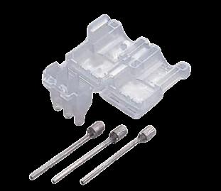 絶縁カバー付3心棒形状圧着端子(2mm2用/20セット)