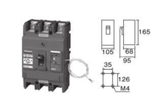 盤用ブレーカ サーキットブレーカ BBW-N型 単相3線用 225250AF