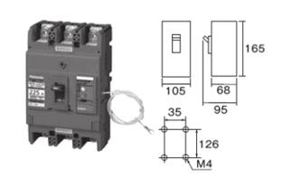 盤用ブレーカ 漏電ブレーカ単相3線専用 BKW-N型225AF