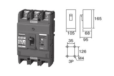 盤用ブレーカ 漏電ブレーカ BKW型 225250AFC