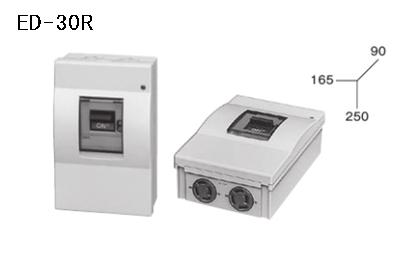 ケースブレーカ 屋内用 漏電保護用 ED-30R 30AF プラスティック コンセント付