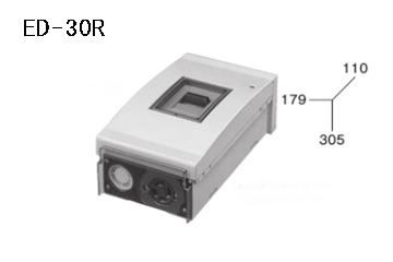 ケースブレーカ 屋外用 漏電保護用 ED-30R 30AF プラスティック コンセント付