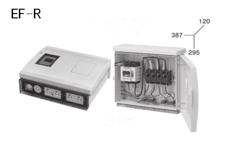 ケースブレーカ 屋外用 EF-R 分岐ブレーカ+コンセント付 プラスティックケース
