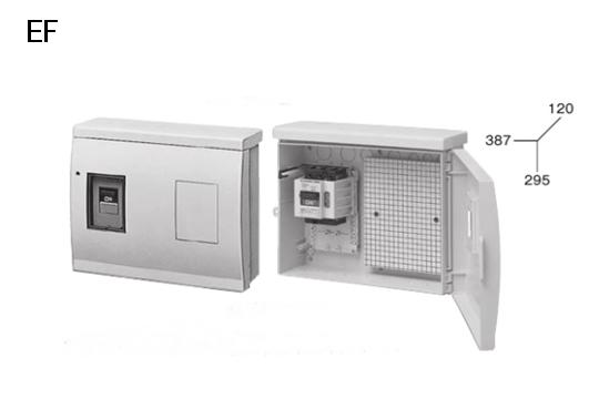 ケースブレーカ 屋外用 EF フリースペース付プラスティックケース