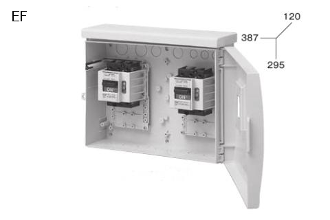 ケースブレーカ 屋外用 漏電保護用 EF 50AF プラスティック