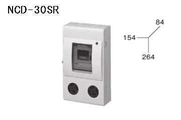 ケースブレーカ 屋内用 配線保護用 NCD-30R 30AF スチール コンセント付