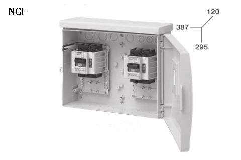 ケースブレーカ 屋外用 配線保護用 NCF 50AF プラスティック